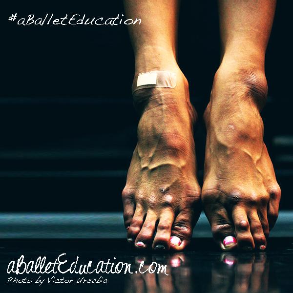 Ballet dancers feet damage ballet shoes