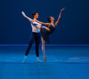 "The Mikhailovsky Ballet's Anastasia Soboleva & Victor Lebedev Asaf Messerer's ""Class Concert."" Photo: Stas Levshin"